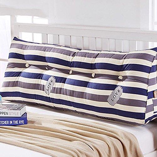 Coussins de chevet triangle double canapé grand dossier, oreiller de lit, oreiller de taille (Couleur : 1#, taille : 60 * 45 * 21cm)