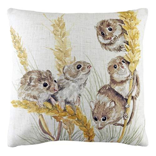 Evans Lichfield Woodland Fieldmice Polyester Filled Cushion, Multi, 43 x 43cm