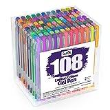 Lineon Gel Pens 108 Colours Gel Pen Set for Adult Colouring Books...