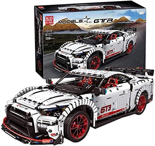 Zaclay Juego de construcción de bloques de construcción para coche deportivo GTR, modelo de coche, compatible con técnica, 3358 piezas