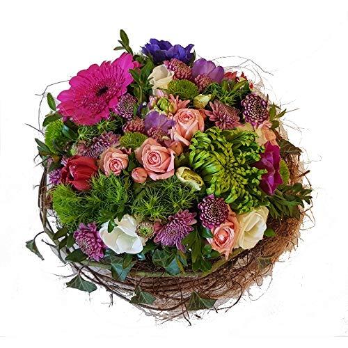 Flora Trans Blumengruß mit frischen Blumen verschicken Frischblumengesteck -Blumenglück-