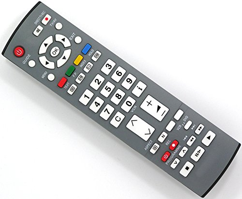 Ersatz Fernbedienung for Panasonic TV TH-42PV45EH TH-42PV45EHK TH-42PV60 TH-42PV60E TH-42PV60EH TH-42PV60EY