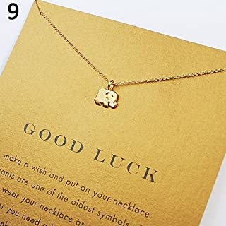 856store Novelty Women Fashion Love Heart Star Elephant Pendant Choker Charm Jewelry Necklace - 1