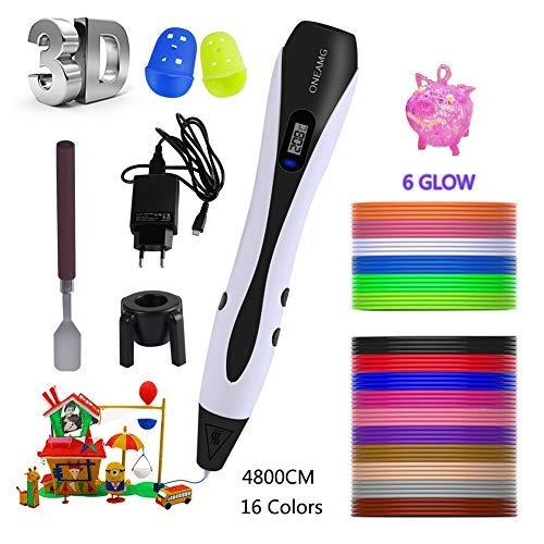 Pluma 3D Pluma de impresión 3D para niños con pantalla LCD y control de temperatura, compatible con filamentos de PLA para Impresión 3D Regalo para Niños y Adultos