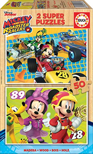 Educa- Mickey and The Roadster Racers 2 Puzzles Infantiles d