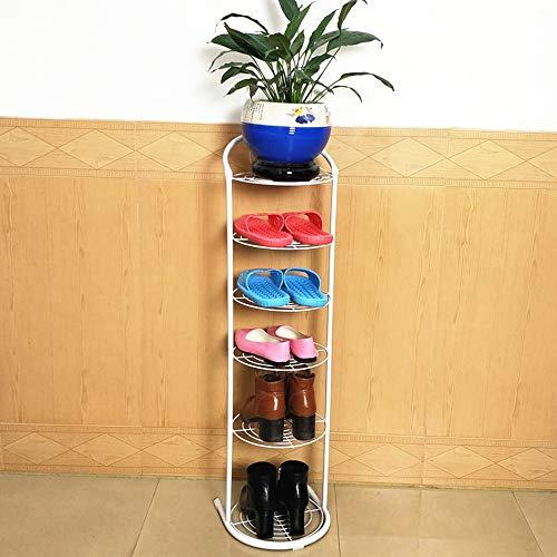 Feifei Rack de Zapatos Simple Assembly Rack de Zapatos Multicapa de Hierro Forjado Home Mini Rack de Zapatos (Color : Blanco)