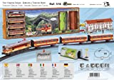 PEQUETREN Pequetren516 Classic Deluxe Travelers Metálico Modelo Tren con Estación y Túnel
