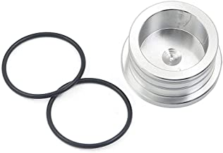 Fpr Duramax Turbo Mouth Piece Resonator Plug and O ring Cover Cap Diesel 2004.5-10 LBZ LLY LMM (Sliver)
