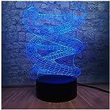 3D Luz De Noche Led Luz De Noche Led El doctor dijo regalo de cumpleaños para jóvenes, niñas Con interfaz USB, cambio de color colorido