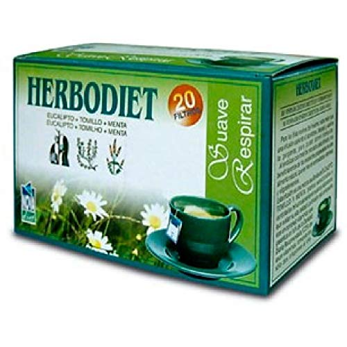Novadiet Infusion Herbodiet Suave Respiracion - 1 Paquete De 20 Filtros