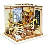 DIY Miniaturzimmer, Nähzimmer, H 19 cm, B 22,5 cm, 1 Stück, Tiefe 18,5 cm