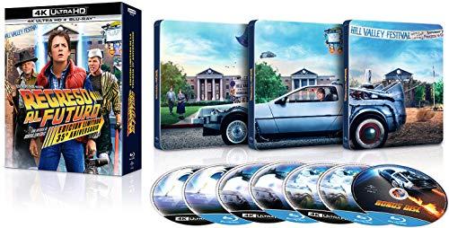 Regreso al Futuro 1-3 (Ed. 35 Aniversario Metálica) (7 Discos) (4K UHD + BD) [Blu-ray]