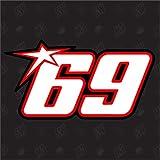 speedwerk-motorwear 69 - Pegatinas con el número de Inicio de Nicky Hayden Moto GP