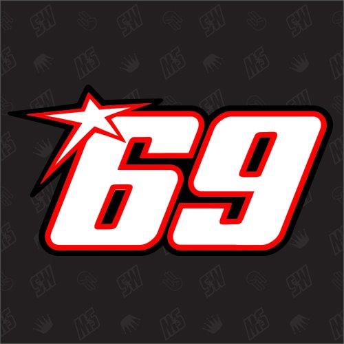 speedwerk-motorwear 69 - Startnummer Nicky Hayden Moto GP Sticker, The Kid Aufkleber
