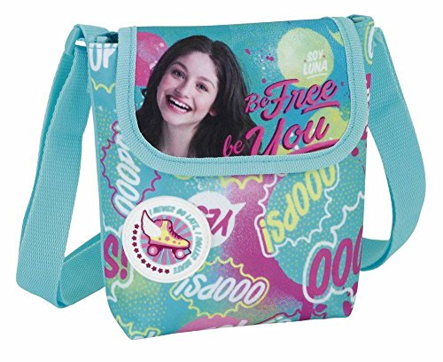 Soy Luna - Geschenkset, 3-teilig; Mini Schultertasche, Geldbörse und Block - DIN A4, Sortiert; rosa, aquablau, gelb; Disney