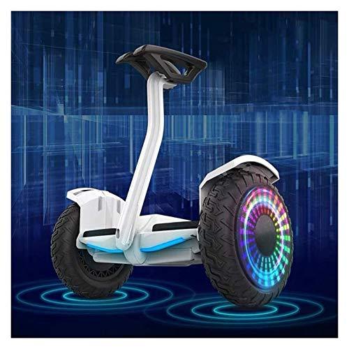 SCYMYBH Hoverboard Auto Equilibrio Scooters eléctricos de Dos Ruedas Smart Balance Scooter con Altavoz Bluetooth, Luces LED, Ruedas Intermitentes, Mejores Regalos para niños (Color : Black)