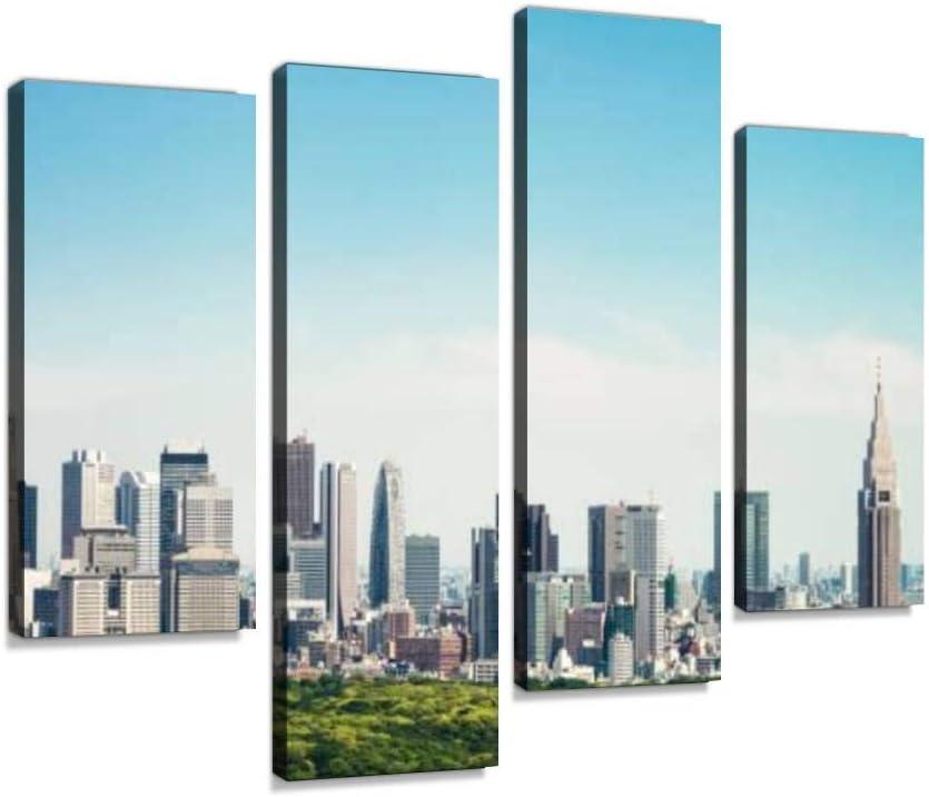 Tokyo Horizon Skyscrapers of Max 71% OFF Ginza and Wall Super special price Shinjuku Canvas Art