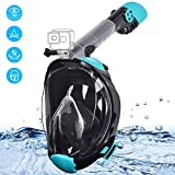 Snorkel Mask, Gocheer Full Face Anti-fog Snorkeling Mask with Circulating Airflow & 180°Clear