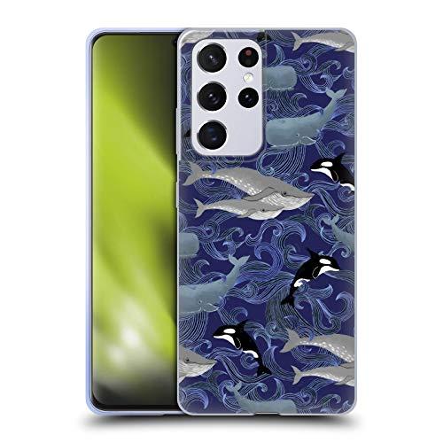 Head Case Designs Licenza Ufficiale Micklyn Le Feuvre Giganti Porpora Pattern Cover in Morbido Gel Compatibile con Samsung Galaxy S21 Ultra 5G