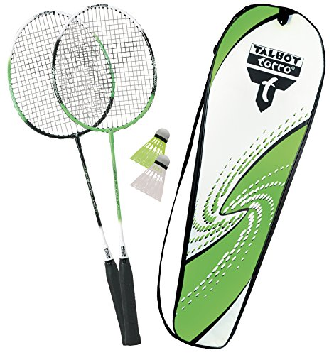 Talbot Torro Set Badminton-Schläger 2-Attacker im Thermobag - Grün Weiß
