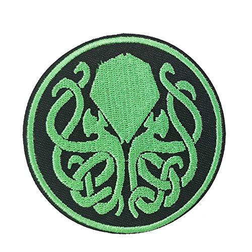 Parche bordado para planchar con logotipo de Horror de Cthulhu R'Lyeh H.P Lovecraft