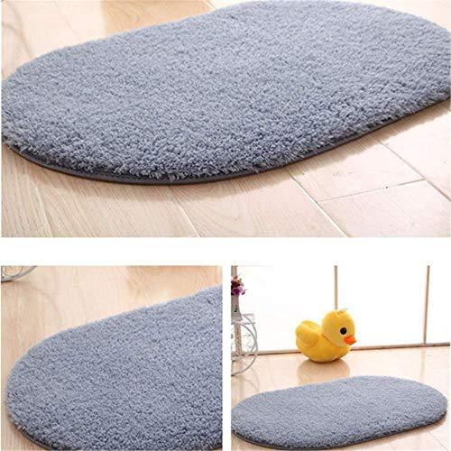 YUNSW Polyesterfaser Teppich Verdickt Ovale Badezimmertür rutschfeste Saugfähige Fußmatten Schlafzimmer Küche Hauseingang Fußmatten Waschbar