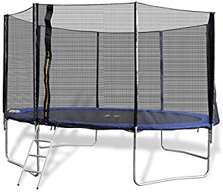 Trampoline 8Ft - 244cm Ladder - With Strong Safety Mesh - Unisex