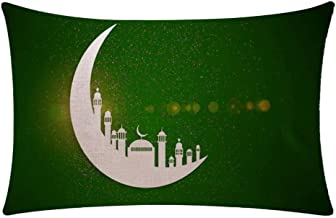 Home Decoration Amaae® Ramadan Festival Linen Pillowcase Comfortable Sofa Cushion Set Home Decoration(Color:Multicolor, Material:Linen) Creative Gifts For Kid Child Home Living room,Home