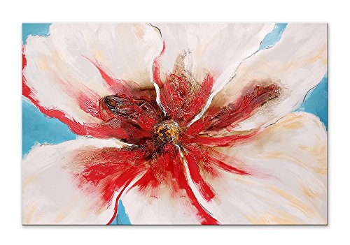 Arte Dal Mondo Edgar Ramirez Fiore Bianco E Rosso Wandverzierung, Stoff, Bunt