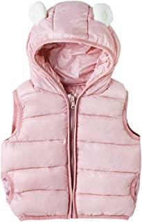 Maiheimoon Baby Boy Girl Hooded Puffer Vest,Kids Vests Coats,Hooded Zipper Warm Waistcoat Jacket.