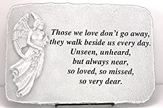 Kay Berry Those We Love Don't Go Away Memorial Stone Sympathy Gift Angel; 10x15 NB;Stand Included