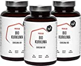 nu3 Cúrcuma Orgánica - 600 cápsulas con kurkuma molida - Tabletas veganas de cúrcuma con pimienta - Alto contenido de piperina natural + extracto de pimienta negra