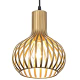 Popilion Antique Brass Metal Ceiling Pendant Light,Industrial Adjustable Pendant Lights with Smooth Surface