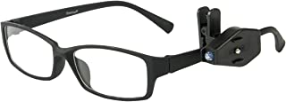 Mini lampe LED de lecture pour les lunettes - Clip LED pour lunettes - Accessoire pratique pour lire ou se concentrer sans...