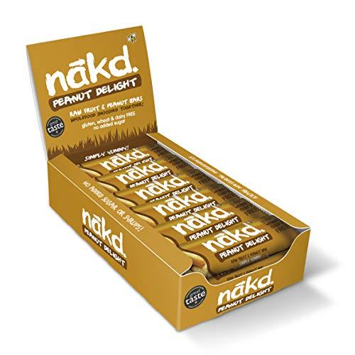 Nakd Raw Fruit and Nut Bars - Case of 18 (Peanut Delight)