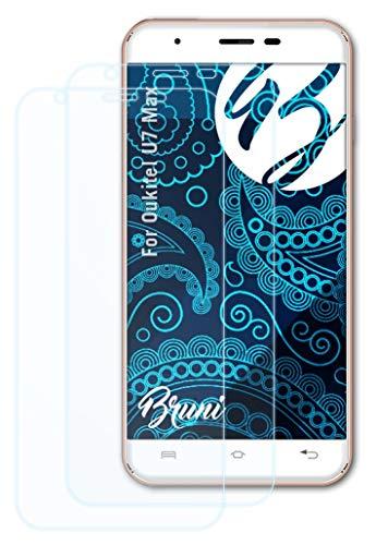 Bruni Schutzfolie kompatibel mit Oukitel U7 Max Folie, glasklare Bildschirmschutzfolie (2X)