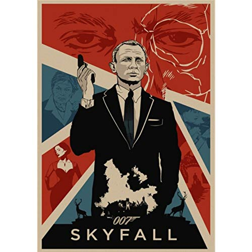 manyaxiaopu James Bond 007 Series Pierce Brosnan Film Classici Arredamento per La Casa Decorazione Carta Kraft Poster Pittura Decorativa A18 50X70Cm