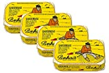 Pinhais Spiced Canned Sardines in Virgin Olive Oil, 4.4oz (Pack of 4)