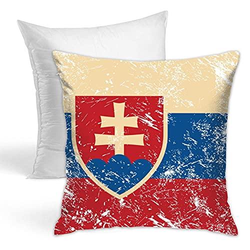 Sofá de la bandera retro de Eslovaquia para todas las estaciones, ligero, sala de estar, campamento, cama, silla, ropa de cama, ropa de cama, ultra su.