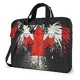 Laptop Bag Eagle Canada Flag Laptop Shoulder Messenger Bag Briefcase Notebook Case Cover Holder 14 inch