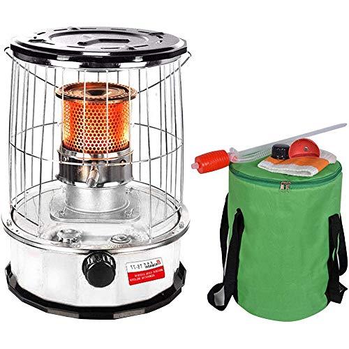 Fikujap Calentador de keroseno, a través de Quemaduras de keroseno portátil portátil y al Aire Libre, Calentador de Vidrio Templado.