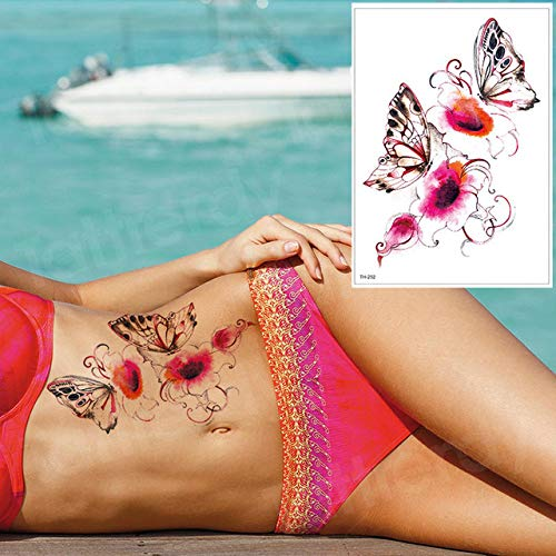 Handaxian 3pcs imperméable Tatouage Autocollant Bikini Pivoine 3pcs-20