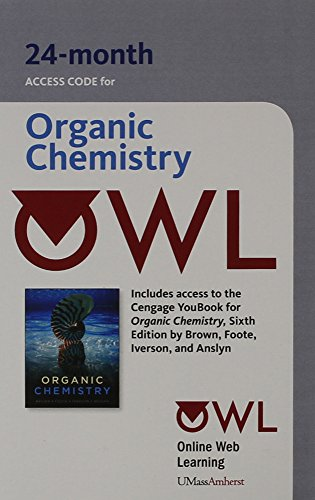 OWL (24 months) Printed Access Card for Brown/Foote/Iverson/Anslyn's Organic Chemistry, 6th
