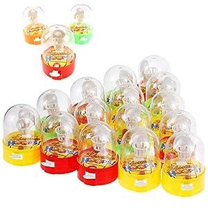 Herefun Mini Baloncesto de Mesa Juego de Disparos, Mini Juguetes de Mano de Juego de Baloncesto para Reducir el Tiempo de Asesinato de Estrés Mini Baloncesto para Niños (Color Aleatorio)