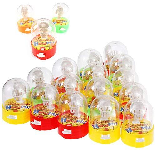 Herefun 16 Pcs Flipper Basketball, Mini Basketball Mini Finger Schießspielzeug, Desktop-Kinderspielzeug, Kleines Spielzeug Korbwurf, Kindergeburtstag Mitgebsel