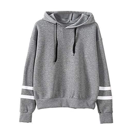 HOSD Capucha Suelto Manga Ropa y con de Larga Suéter Mujer Verano para de