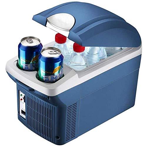 QTCD Refrigerador Congelador Glaciere 8L Mini Refrigerador de Coche 12V Refrigerador de Coche Refrigerador Caja de Doble Uso Frío/Caliente Portátil IceBox Pequeño Congelador, Camping, Caravanas