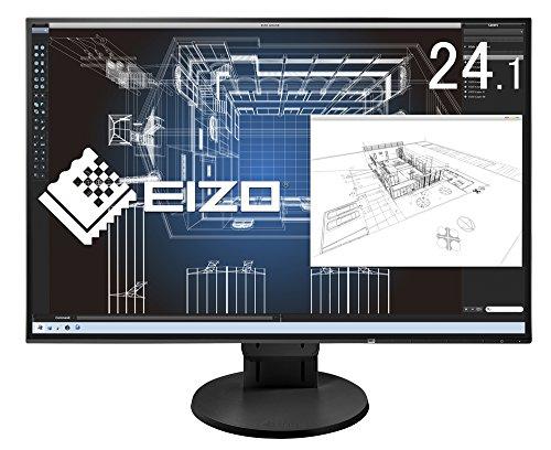 『EIZO FlexScan 24.1インチ ディスプレイ モニター (WUXGA/IPSパネル/ノングレア/ブラック/5年間保証&無輝点保証) EV2456-RBK』のトップ画像