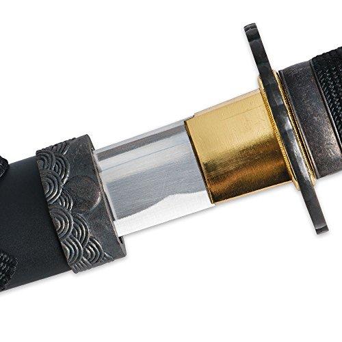 Classic Crane Tsuba Handmade Samurai Katana Sword Sharp