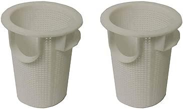 2) Sta-Rite Pentair C8-58P Dura Glas II Pump Pool Skimmer Basket Replacements
